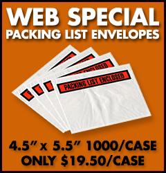 Web Special: Packing List Envelopes